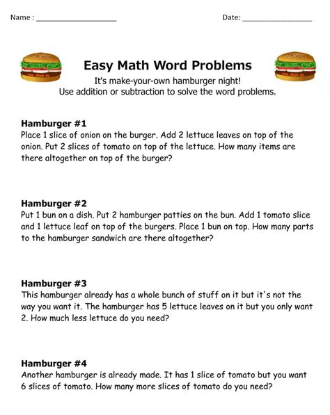 Math word problems work, mixed addition and subtraction word problems, first grade multiplication and division math word problems, three addends word problems to 20, grade 6 math word problems with percents. 10 Amazing 1st Grade Math Word Problems Worksheets Samples ...