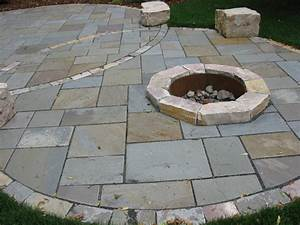 Bluestone patio with fire pit contemporary patio for Blue stone patio with fire pit
