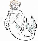 Merman Draw Step Drawing Drawings Dragoart Mermaid Coloring Getdrawings Sketches Cartoon Mermaids Tutorial Gay Tail Steps sketch template