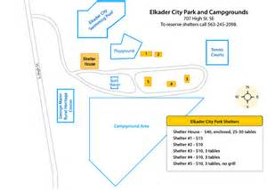 Elkader City Park and Campgrounds Map