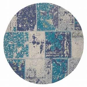 Teppich Rund Türkis : kayoom teppich matrix rund t rkis durchmesser 120 cm 100 baumwolle 6666 abgepasste ~ Frokenaadalensverden.com Haus und Dekorationen
