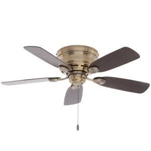 Low Profile Ceiling Fans Home Depot by Low Profile 42 In Indoor Antique Brass Ceiling Fan