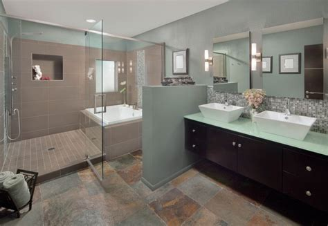 modern master bath addition contemporary bathroom by artful design interiors