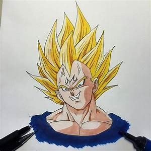 One day one sketch - number 16 - Majin Vegeta - #1day1sket ...