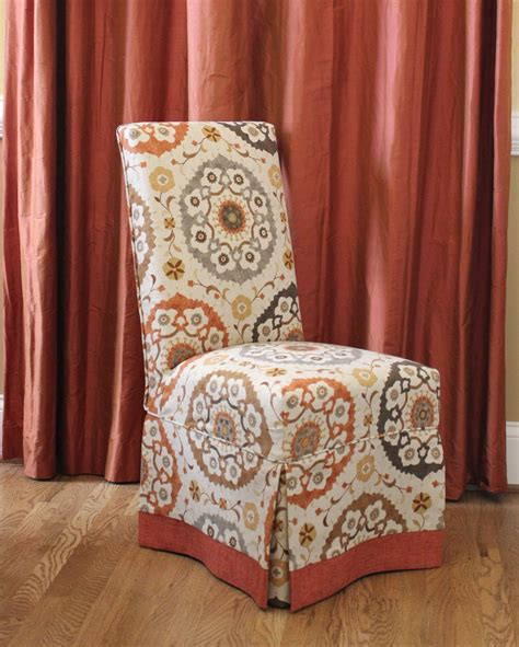 parson chair slipcover parson chair slipcovers with contrast banding design by