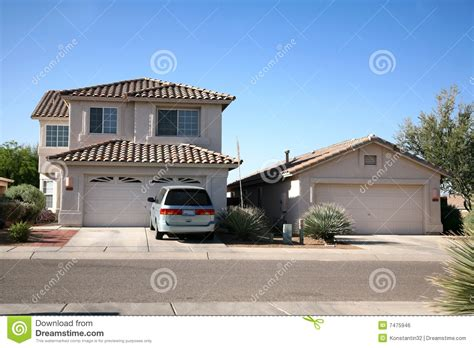 Klassisches Amerikanisches Haus Stockfoto  Bild 7475946