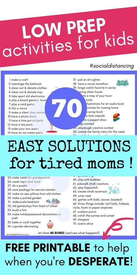 70 Activities to Do with Kids From Home {+Free Printable
