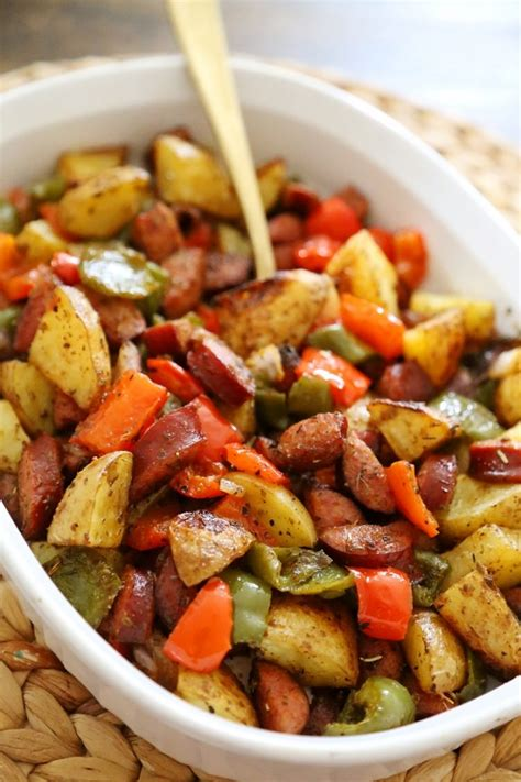 pan roasted sausage peppers  potatoes