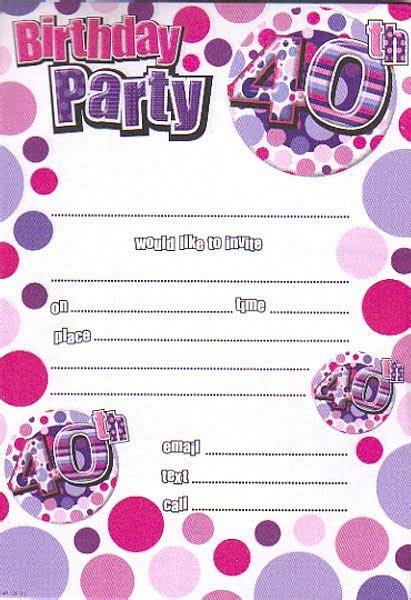 40th Birthday Party Invitations Wording Bagvania