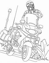 Coloring Motorcycle Printable Pages sketch template