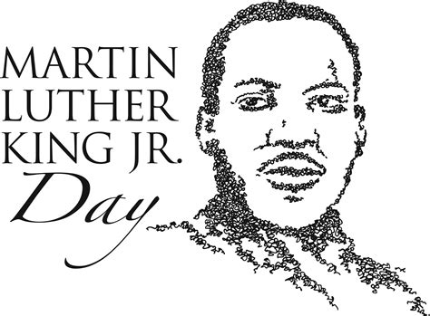 Martin Luther King Clipart Portrait Clipart Mlk Pencil And In Color Portrait