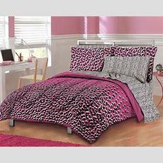 Girls Teen Hot Pink Leopard Print Comforter Set Bedding