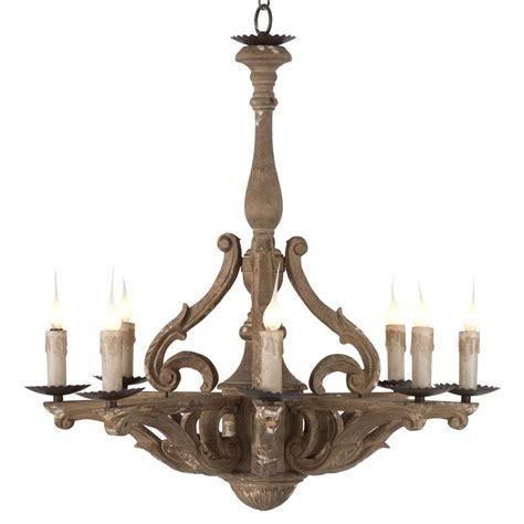 rustic chandelier lighting castille rustic carved wood european 8 light chandelier