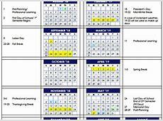 Awesome Printable School Year Calendar 201819 Free