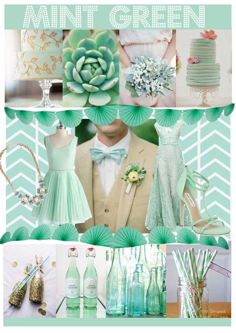 mint green wedding decorations