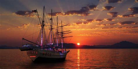 private sunset dinner sailing san juan harbor caribbean