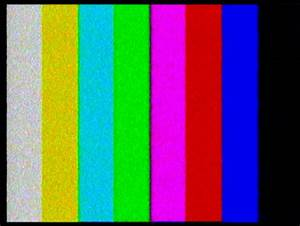HD 1080i - TV Test. Color Bars Crash With Audio Stock ...