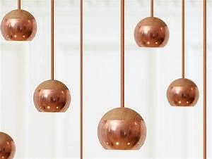 Suspension Boule Cuivre : suspension cuivre design tendance interieur accueil design et mobilier ~ Teatrodelosmanantiales.com Idées de Décoration