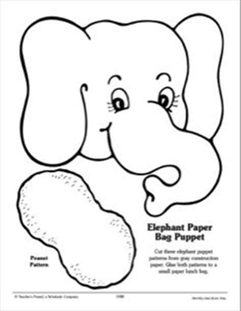 elephant paper bag puppet elephant ear pattern use the printable outline for crafts 4397