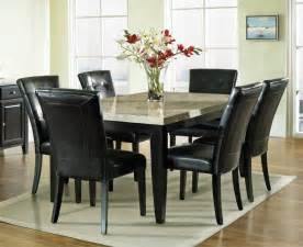 marble dining room set steve silver monarch 7 marble top 70x42 dining room set efurniture mart