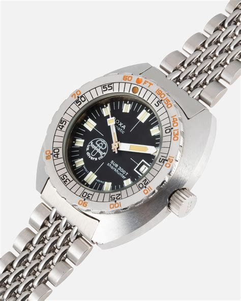 doxa   shark hunter aqua lung cousteau  ssong vintage watches  sale ssong