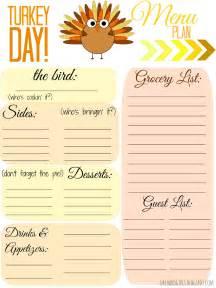 Free Printable Thanksgiving Menu Templates
