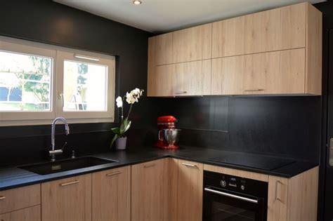 cuisine pin maritime nouvelle cuisine en bois et noir moderne cuisine