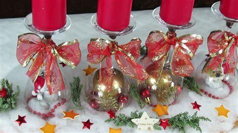 Dekoration Für Weihnachten . Adventskranz Basteln Mit Weingläsern . Einfach .