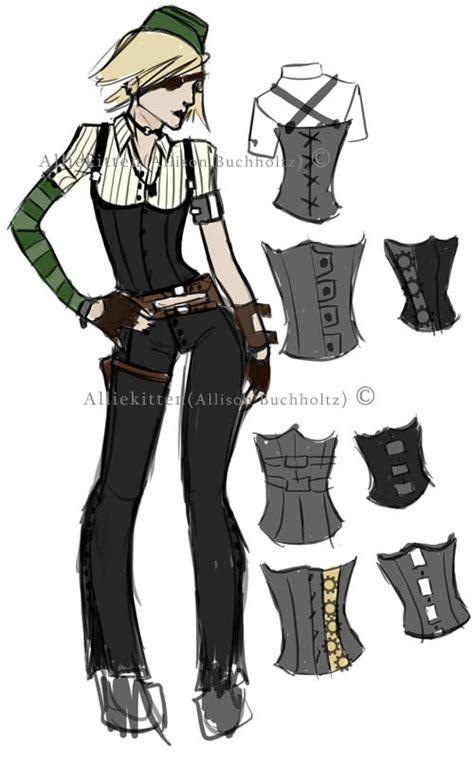 Steampunk Costume Sketch by AllieKitten on DeviantArt