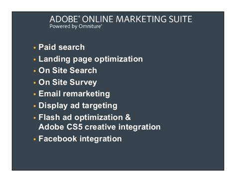 Marketing Optimization - adobe real time marketing optimization