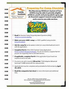 The Arc of New Jersey Family Insute  Resources  Camp Funding Applications