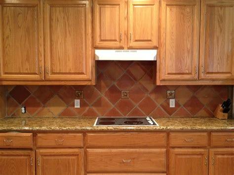 terracotta backsplash kitchen mexican saltillo tiles backsplash 8x8 saltillo tile in 2694