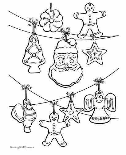 Coloring Christmas Pages Ornament Ornaments Decorations Sheets