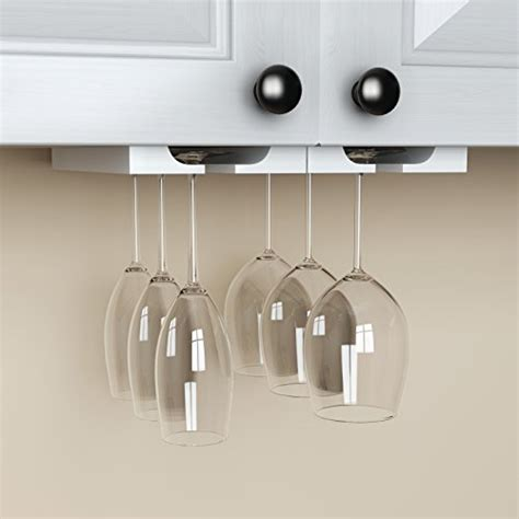 new hanging under cabinet stemware wine glass holder rack