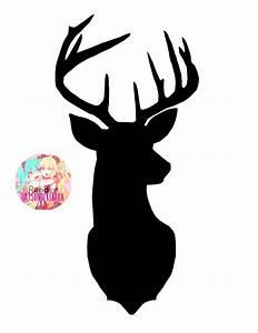 Reindeer Stencil Antler Silhouette - deer png download ...