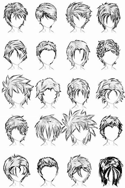 Hairstyles Male Deviantart Anime Hair Boy Drawing