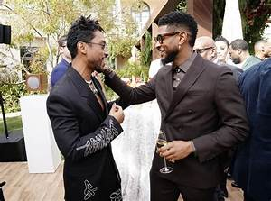 Miguel and Usher at the 2020 Roc Nation Brunch in LA ...