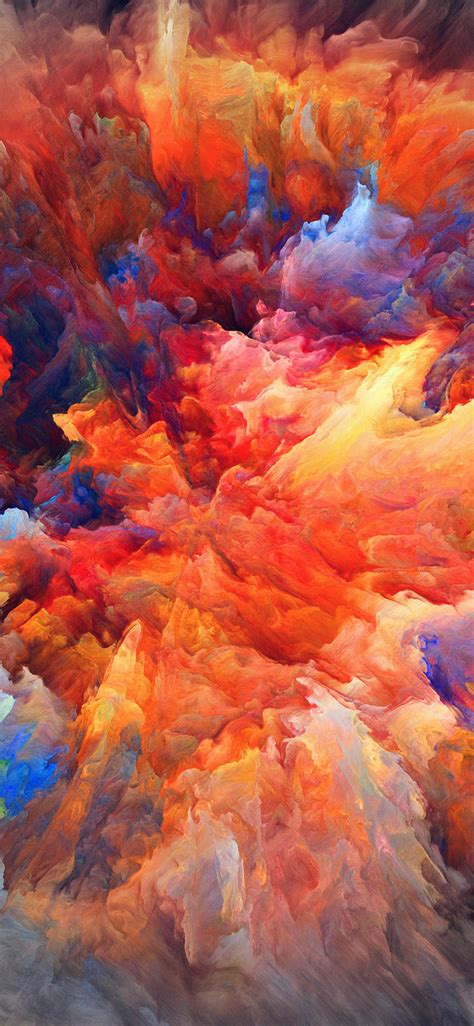 vq color explosion red paint pattern soft wallpaper