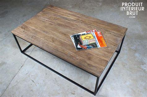 canape vitra table basse en bois et métal