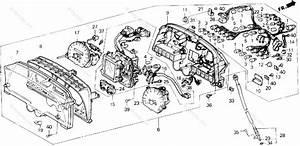 Honda Motorcycle 1991 Oem Parts Diagram For Speedometer