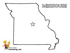 Missouri State Map Coloring Page
