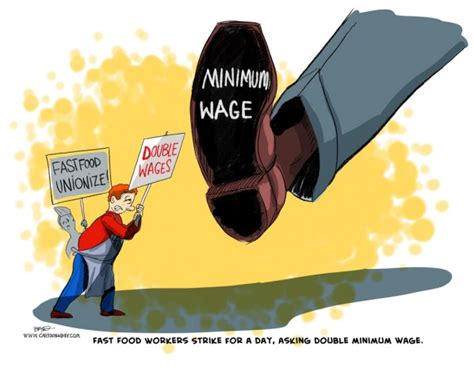 Fast Food Workers Strike Cartoon