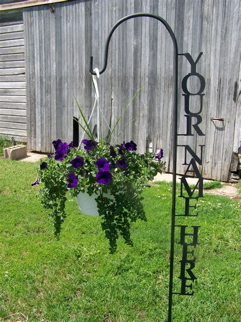 Garden Hook by Shepherd Hook Personalized With Your Name Yard Garden Decor