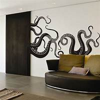 inspiring octopus wall mural Octopus Tentacle Wall Decal Motivation Sea Monster Squid ...