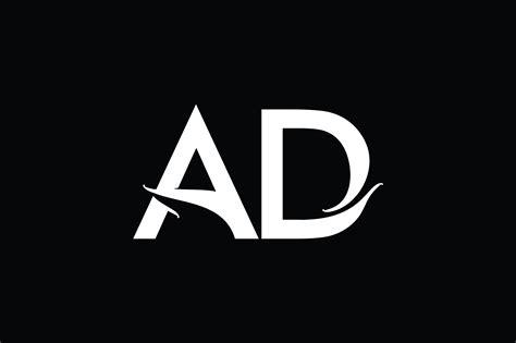 ad monogram logo design  vectorseller thehungryjpegcom