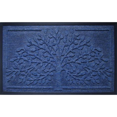 Door Mats Without Rubber Backing by A1hc Impression Tree Design Molded 18 In X 30 In