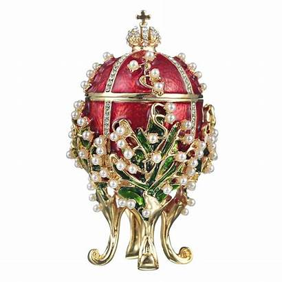 Russian Faberge Valley Jewel Egg Ei Lilies