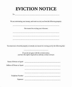 sample eviction notice 7 examples in word pdf With eviction notice letter pdf