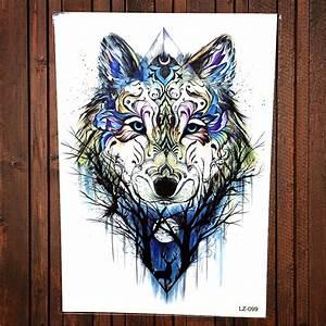 Tatouage Loup Geometrique : tribal loup tatouage achetez des lots petit prix tribal ~ Melissatoandfro.com Idées de Décoration