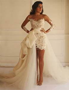 aliexpresscom buy short sheath wedding dress 2015 long With short lace wedding dress